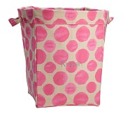 Bright Pink Dot Ikat Canvas, Large