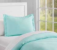 Organic Cotton Duvet Cover, Aqua