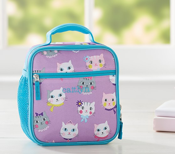 Mackenzie Lavender Kitty Lunch Bags