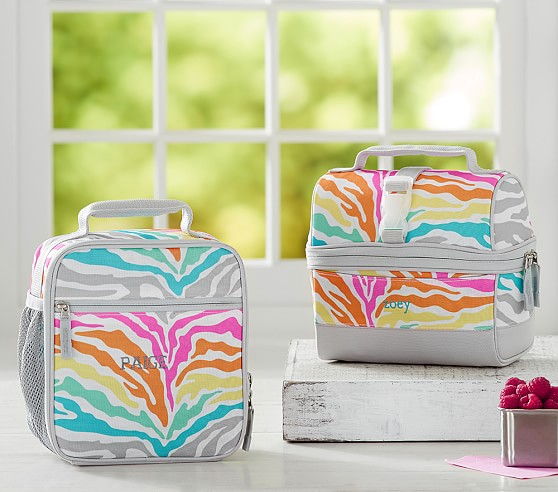 Mackenzie Rainbow Zebra Lunch Bag