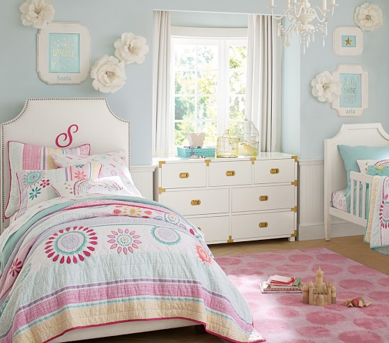 Maya dandelion quilted bedding pottery barn kids for Pottery barn kids rooms