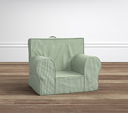 My First Anywhere Chair® Insert & Slipcover Set, Green Gingham