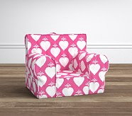 Bright Pink Ikat Heart Anywhere Chair®