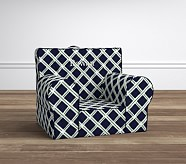 Navy & Green Lattice Anywhere Chair®