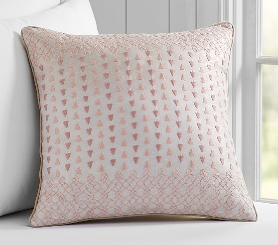 Pottery Barn Decorative Bed Pillows : Metallic Embroidered Decorative Pillows Pottery Barn Kids