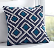 Diamond Geo Decorative Sham, Navy