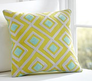 Diamond Geo Decorative Sham, Citron