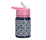 Mackenzie Water Bottle Navy/Pink Flower Geo