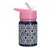 Mackenzie Water Bottle Navy/Pink Flower Geo