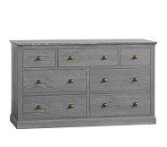 Charlie Extra Wide Dresser, Smoked Charcoal
