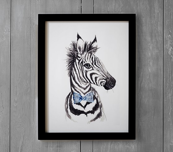 Dapper Zebra Wall Art By Minted Pottery Barn Kids