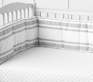 Organic Pin Dot Crib Fitted Sheet - Gray