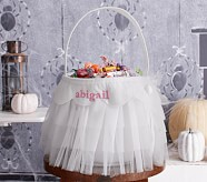 Halloween Tulle Treat Bag - White