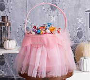 Halloween Tulle Treat Bag - Pink