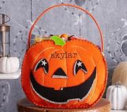 Halloween Shaped Felt Tote Treat Bags - Pumpkin