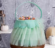 Halloween Tulle Treat Bag - Mint