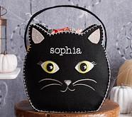 Halloween Shaped Felt Tote Treat Bags - Cat