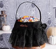 Halloween Tulle Treat Bag - Black