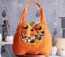 Halloween Bags do some creative cutting to create these clever monster bags perfect for filling with halloween candy Pumpkin Treat Bag