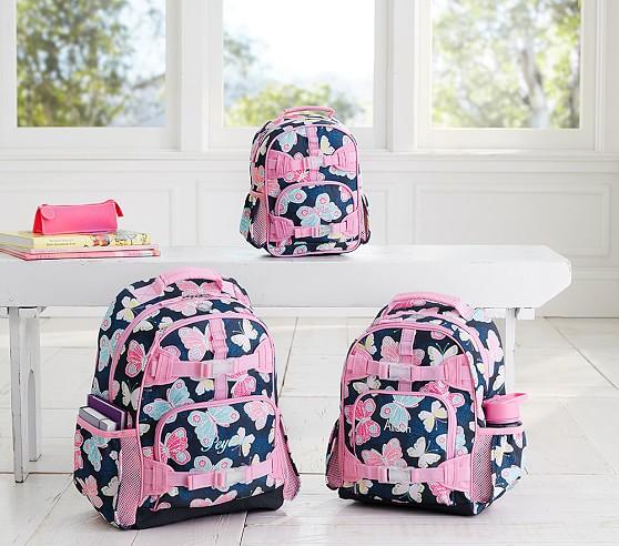 Mackenzie Navy Pretty Butterfly Backpack
