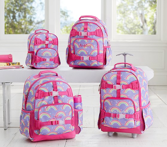 Mackenzie Lavender Rainbow Backpack Pottery Barn Kids