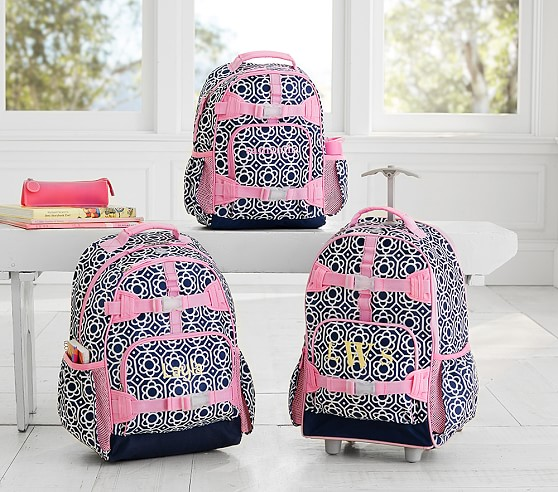 Mackenzie Navy Flower Geo Backpack