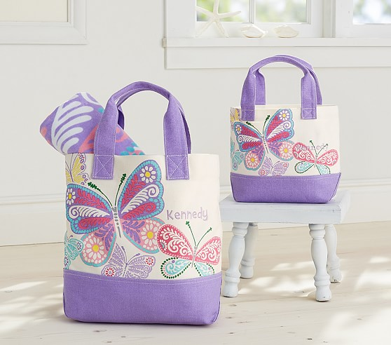 Butterflies Preppy Icon Tote