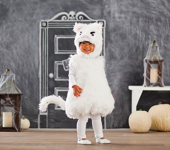 Toddler White Kitty Costume Pottery Barn Kids