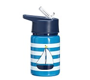 Fairfax Water Bottle Blue/White with Boat