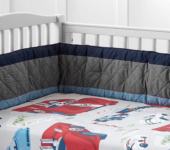 Oversize Vintage Cars Crib Fitted Sheet