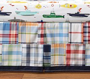 Allover Madras Crib Skirt