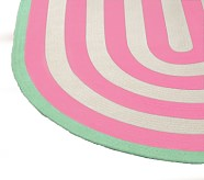 Capel Spiral Oval Rug 3x5 ' Bright Pink with Soft Green