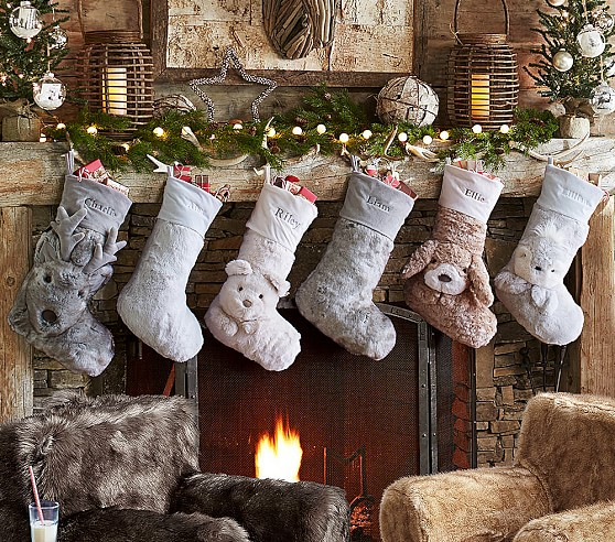 Faux Fur Stocking Collection Pottery Barn Kids