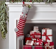Natural Fair Isle Stocking - Santa