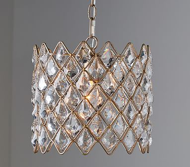 Crystal drum chandelier pottery barn kids for Chandeliers for kids room