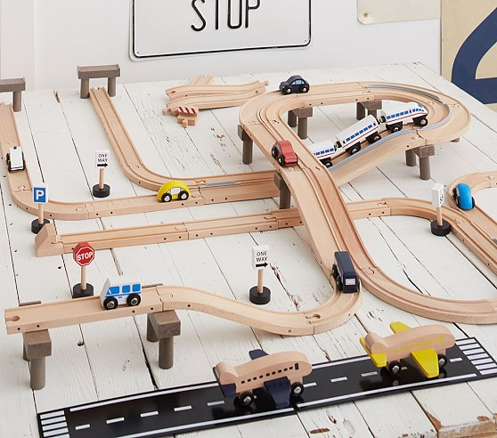boys wooden train set