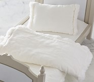 Doll Bedding - White Velvet