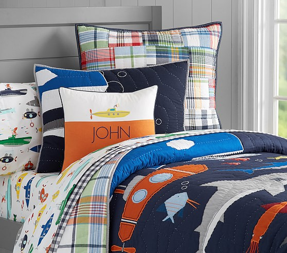 Submarine Quilted Bedding Pottery Barn Kids