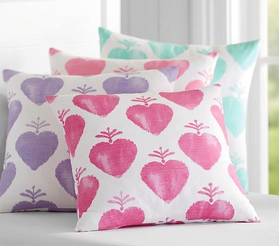 Watercolor Heart Pillows Pottery Barn Kids