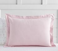 Solid Flannel Duvet, Standard Sham, Pink