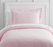 Solid Flannel Duvet, Full/queen, Pink