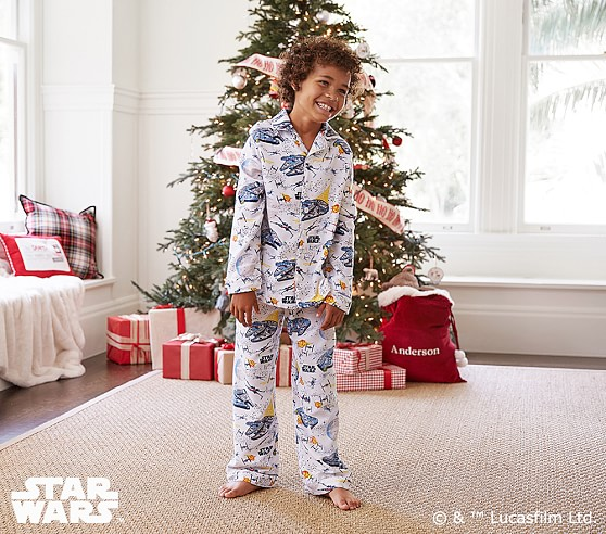 Star Wars Millenium Falcon Flannel Pajama Pottery Barn