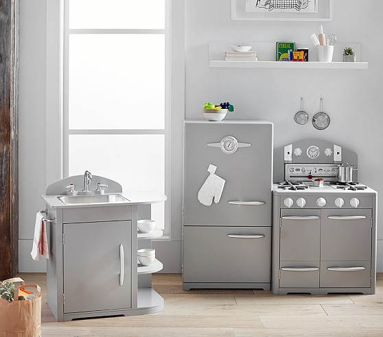 gray retro kitchen collection pottery barn kids