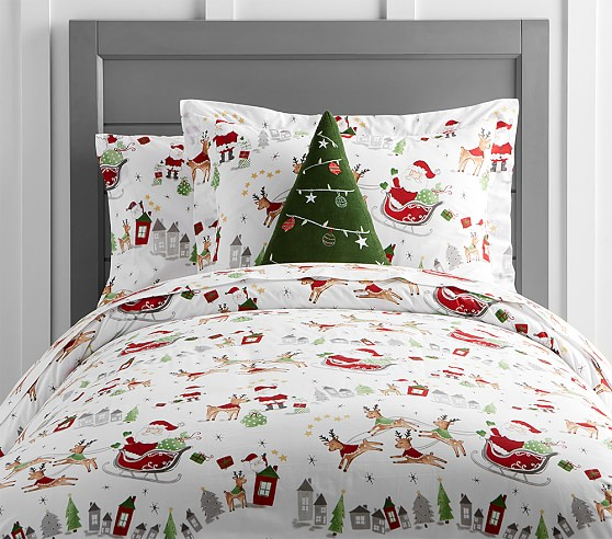North Pole Duvet Cover Pottery Barn Kids