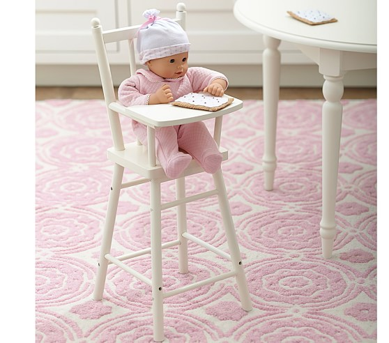 High Chair Toy Holder : Doll high chair pottery barn kids