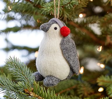 Plush Penguin Ornament Pottery Barn Kids