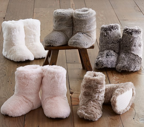 faux fur kids boots