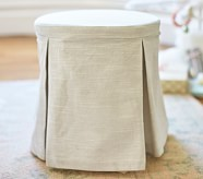 Madeline Stool with Cushion, Evelyn Gray Ruffle