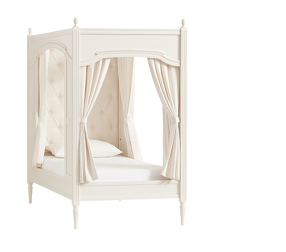 Pottery Barn Carriage Lamp: Blythe Carriage Bed With Curtains And Luxury Firm Mattress