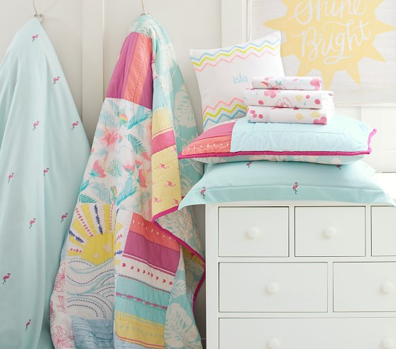 Isla Surf Patch Quilted Bedding Pottery Barn Kids
